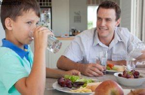تحقیق نوشیدن آب در بین غذا خوردن