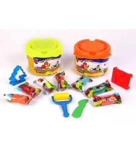 خرید اینترنتی خمیر بازی سطلی توتو toto 5 رنگ
