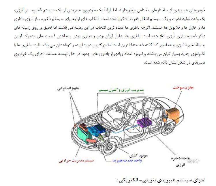 اجزای سیستم های هیبریدی بنزینی - الکتریکی