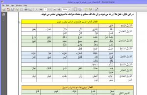 افعال عربی هفتم تا نهم به تفکیک