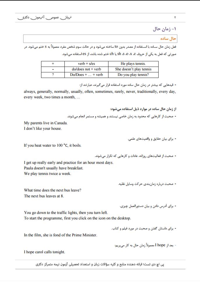 <span>دانلود جزوه آموزشی نکات گرامری آزمون دکتری زبان عمومی</span>