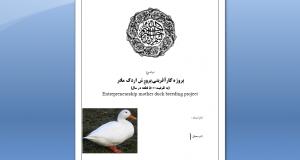 پروژه کارآفرینی پرورش اردک مادر