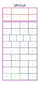 دانلود جدول کشی شهرک الفبا به همراه کارت