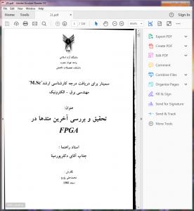 مقاله تحقیق و بررسی آخرین متدها در FPGA