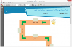 کاربرگ عملكردي مطالعات اجتماعي چهارم دبستان | جاده تاريخ