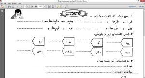 <span>آزمون بنویسیم درس ۱۲ پایه چهارم</span>