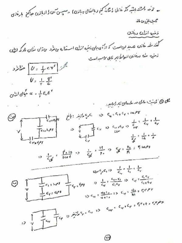 جزوه فیزیک مغناطیس استاد سمیه حسینی