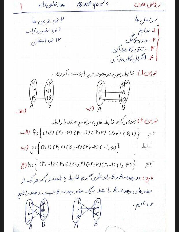دانلود پی دی اف جزوه ریاضی عمومی استاد میرحبیب حسینی